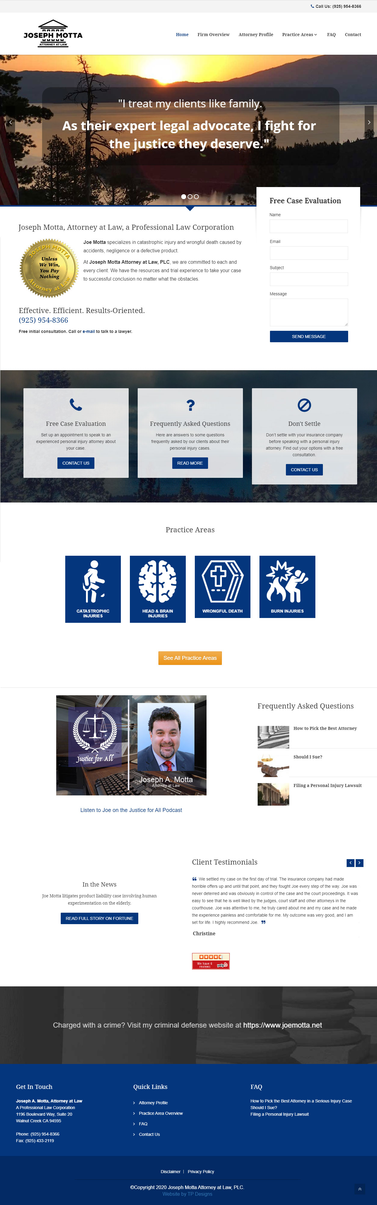 Serious Injury Attorney Web Design