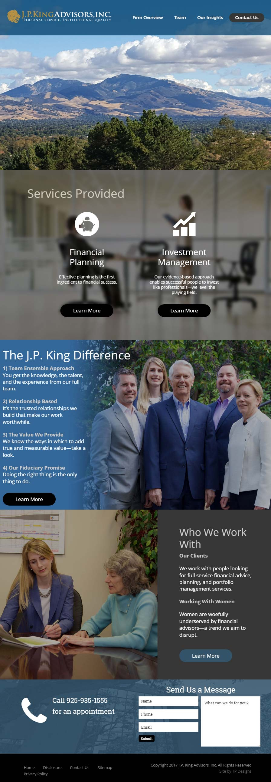 Financial Advisor Web Design