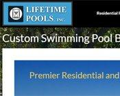 Swimming Pool Builder Contractor Web Design