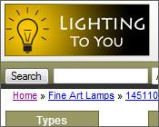 Ecommerce Lighting Website