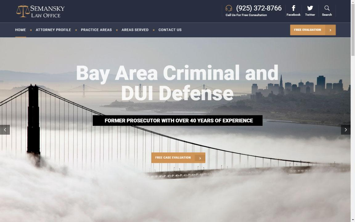 Criminal Lawyer Website Design