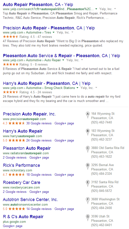 Reviews are important for SEO
