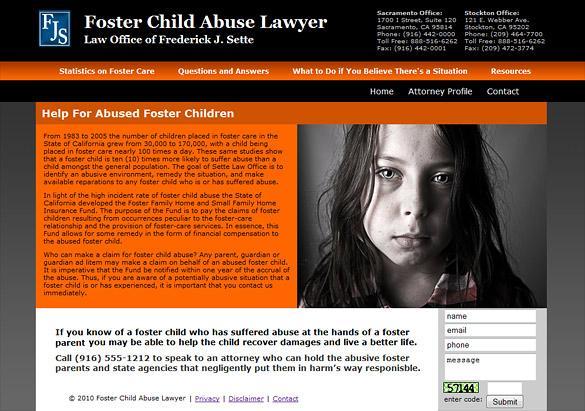 Abuse Attorney Web Design