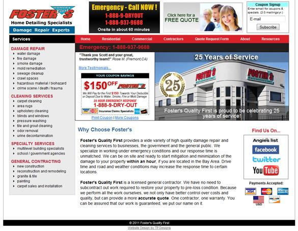 Damage Repair Web Design