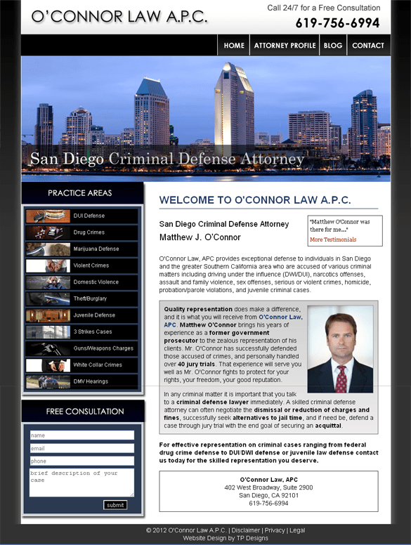 San Diego Attorney Web Design